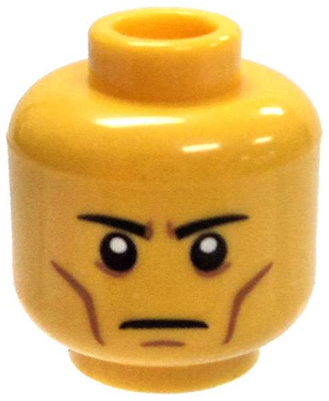 Lego Head x 1 Black Alien with Silver Eyes for Minifigure