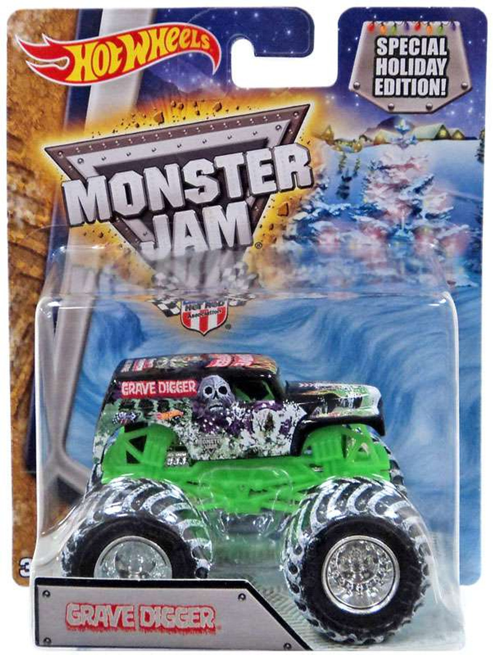 bc4778b3a88a Hot Wheels Monster Jam 25 Grave Digger 164 Die-Cast Car Special Holiday  Edition Mattel Toys - ToyWiz