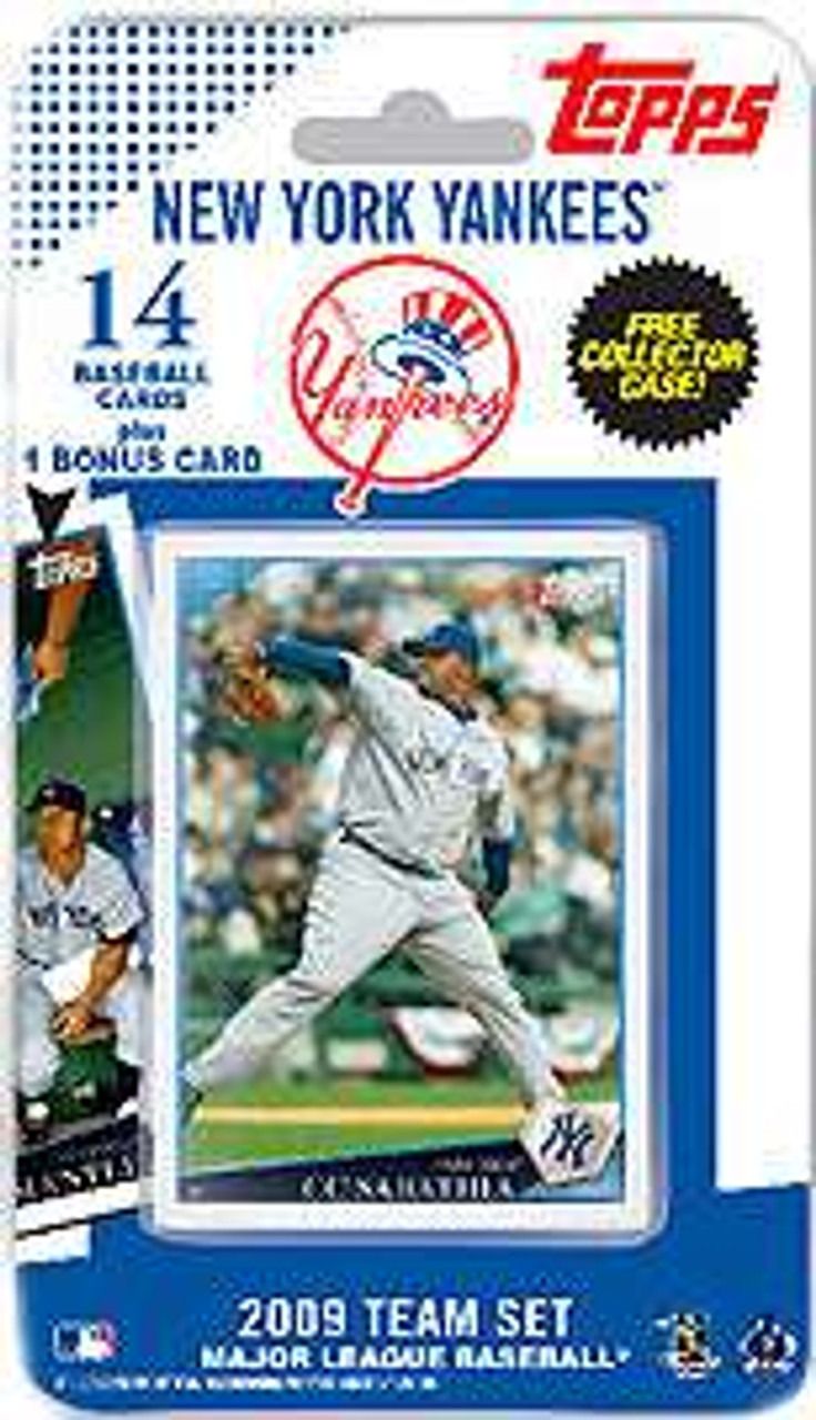 Mlb 2009 Topps Baseball Cards New York Yankees Team Set Comes With Mickey Mantle