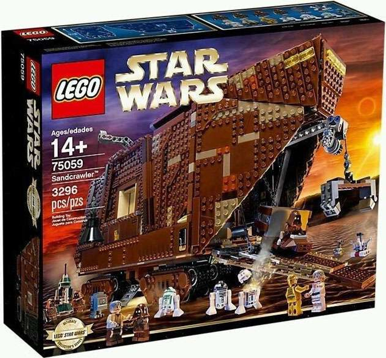 lego star wars a new hope sandcrawler set 75059 damaged