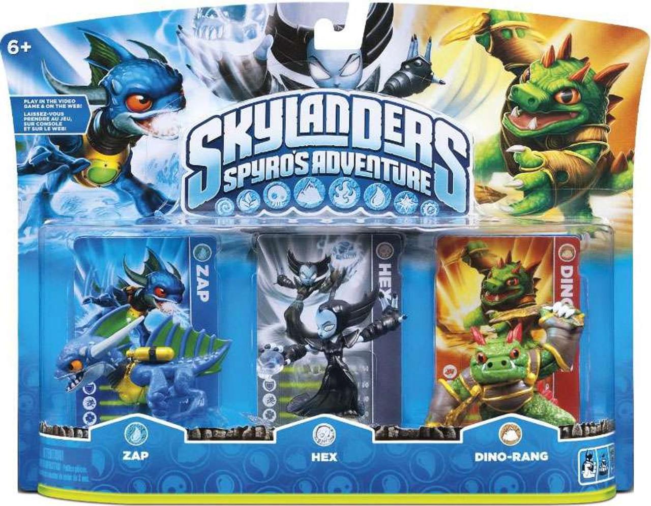 Skylanders Spyro's Adventure Zap, Hex & Dino-Rang Figure 3-Pack [Damaged  Package]