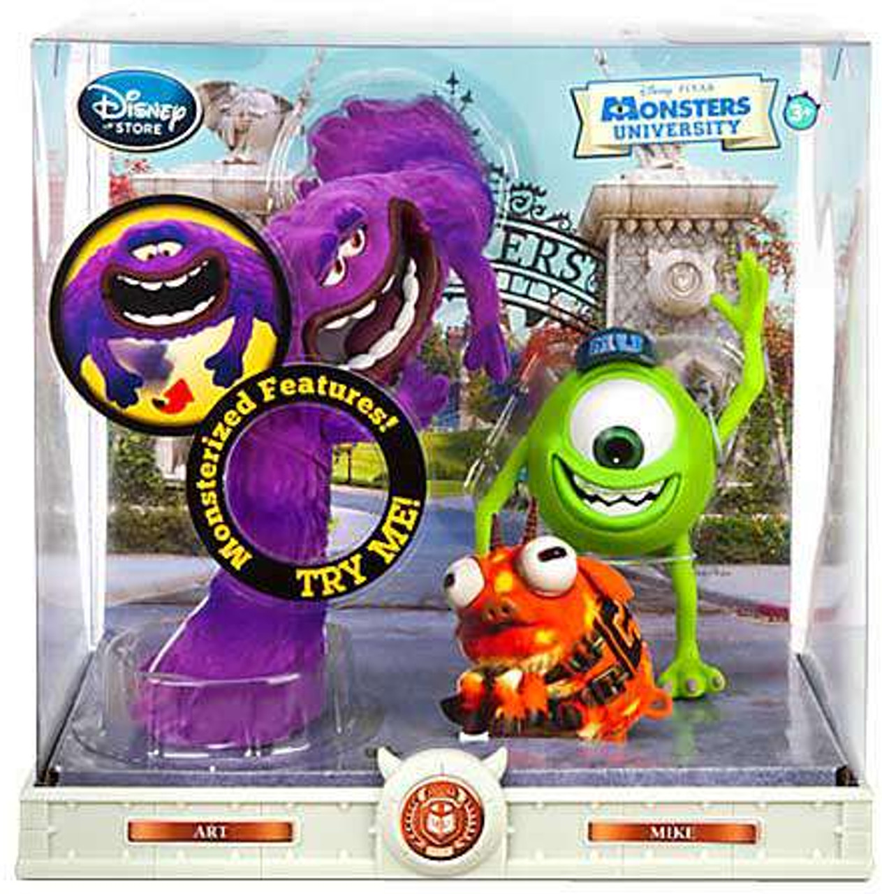 Disney Pixar Monsters University Art Mike Exclusive 6 Action Figure 2 Pack Damaged Package Toywiz