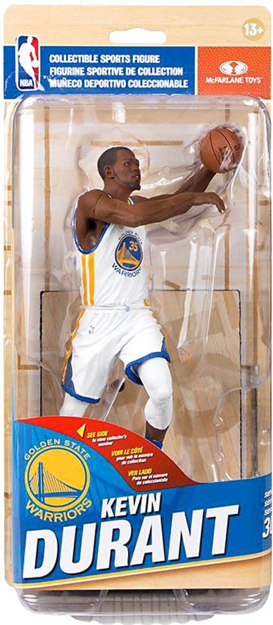 55f85575d53b McFarlane Toys NBA Golden State Warriors Sports Picks Series 30 Kevin  Durant Action Figure White Uniform - ToyWiz