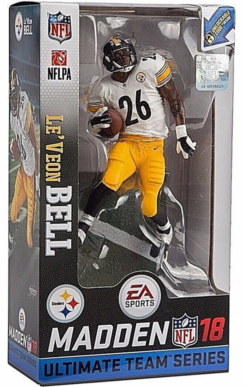 2ff70dc75 McFarlane Toys NFL Pittsburgh Steelers EA Sports Madden 18 Ultimate Team  Series 2 LeVeon Bell 7 Action Figure White Jersey - ToyWiz