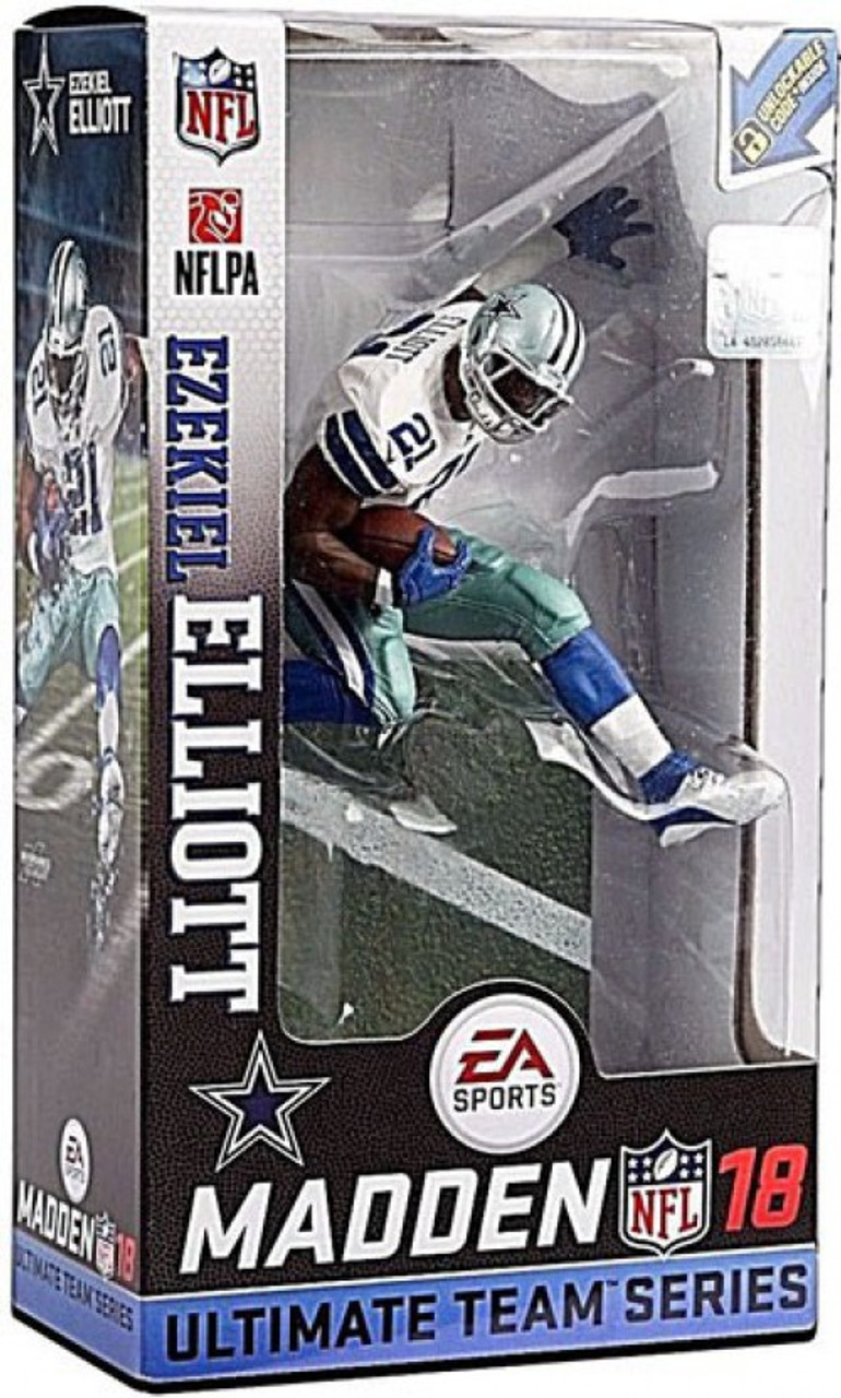 9e352aab6 McFarlane Toys NFL Dallas Cowboys EA Sports Madden 18 Ultimate Team Series 2  Ezekiel Elliott 7 Action Figure White Jersey