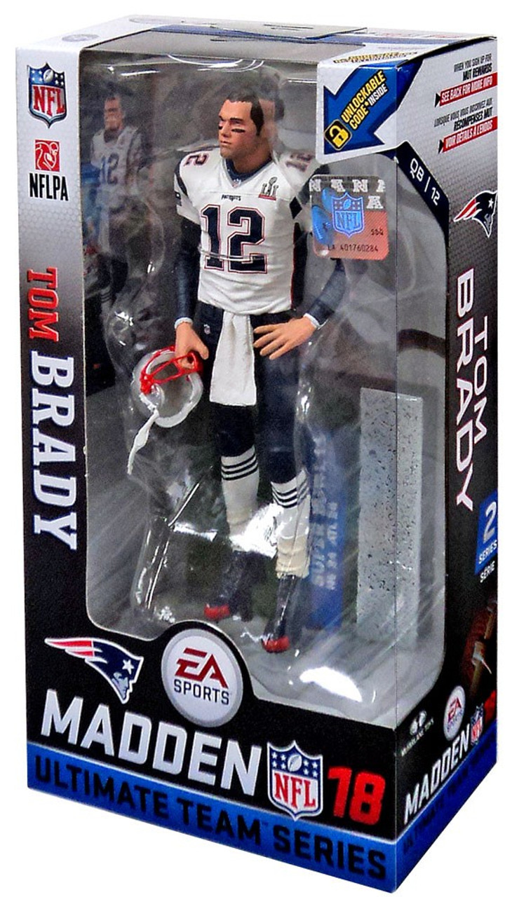 ce060f0eed4 McFarlane Toys NFL New England Patriots EA Sports Madden 18 Ultimate Team  Series 2 Tom Brady Exclusive 7 Action Figure White Jersey - ToyWiz