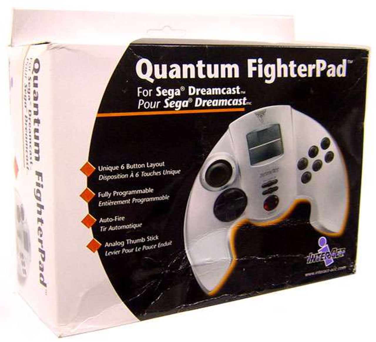 Sega Dreamcast Quantum Fighterpad Video Game Controller Interact