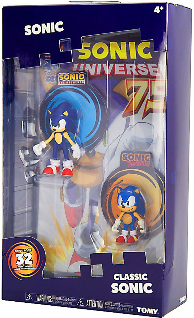 Sonic The Hedgehog Sonic Boom Classic Sonic 3 Action Figure 2 Pack Comic Tomy Inc Toywiz