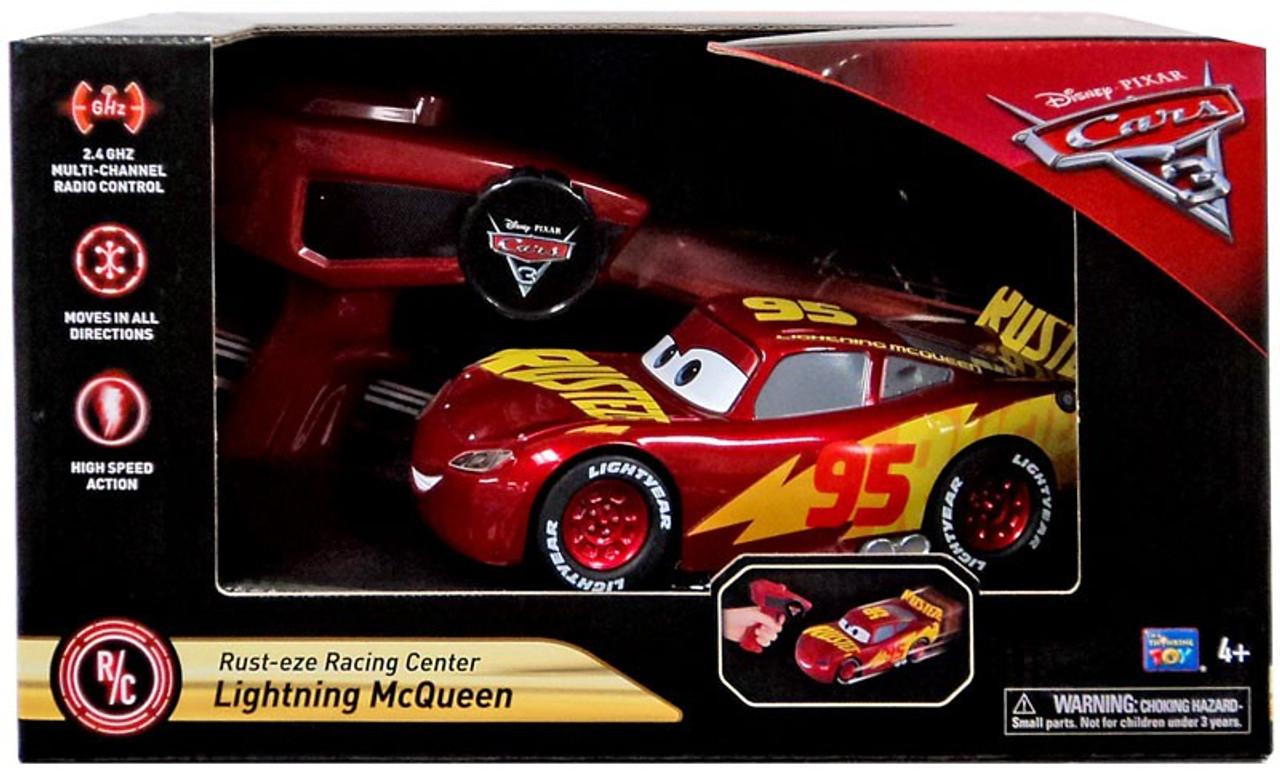 6a4d8e49442 Disney Pixar Cars Cars 3 Lightning McQueen Exclusive RC Car Rust-eze Racing  Center Mattel Toys - ToyWiz