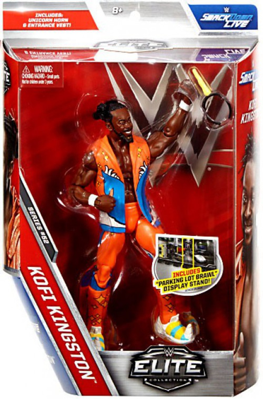 Official Mattel WWE Elite Series 4 Kofi Kingston Wrestling Action Figure