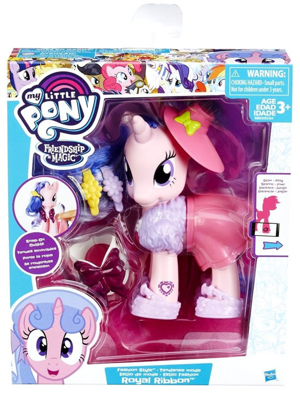 7b46fbe7 Dolls & Accessories My Little Pony Hat Box with Figures Hasbro Dolls' House  Dolls & Accessories