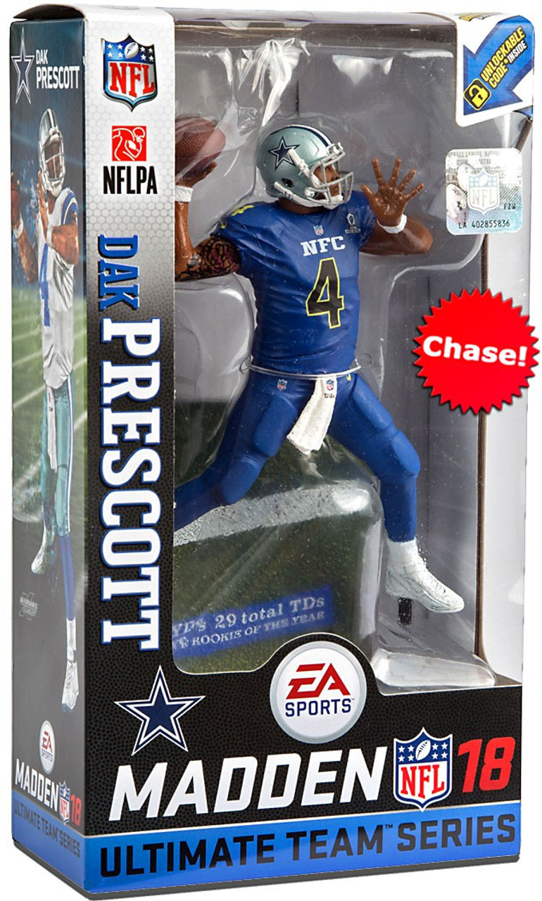 wholesale dealer 59d50 1dd46 McFarlane Toys NFL Dallas Cowboys EA Sports Madden 18 Ultimate Team Series  2 Dak Prescott Action Figure [Pro Bowl Jersey Chase Version]