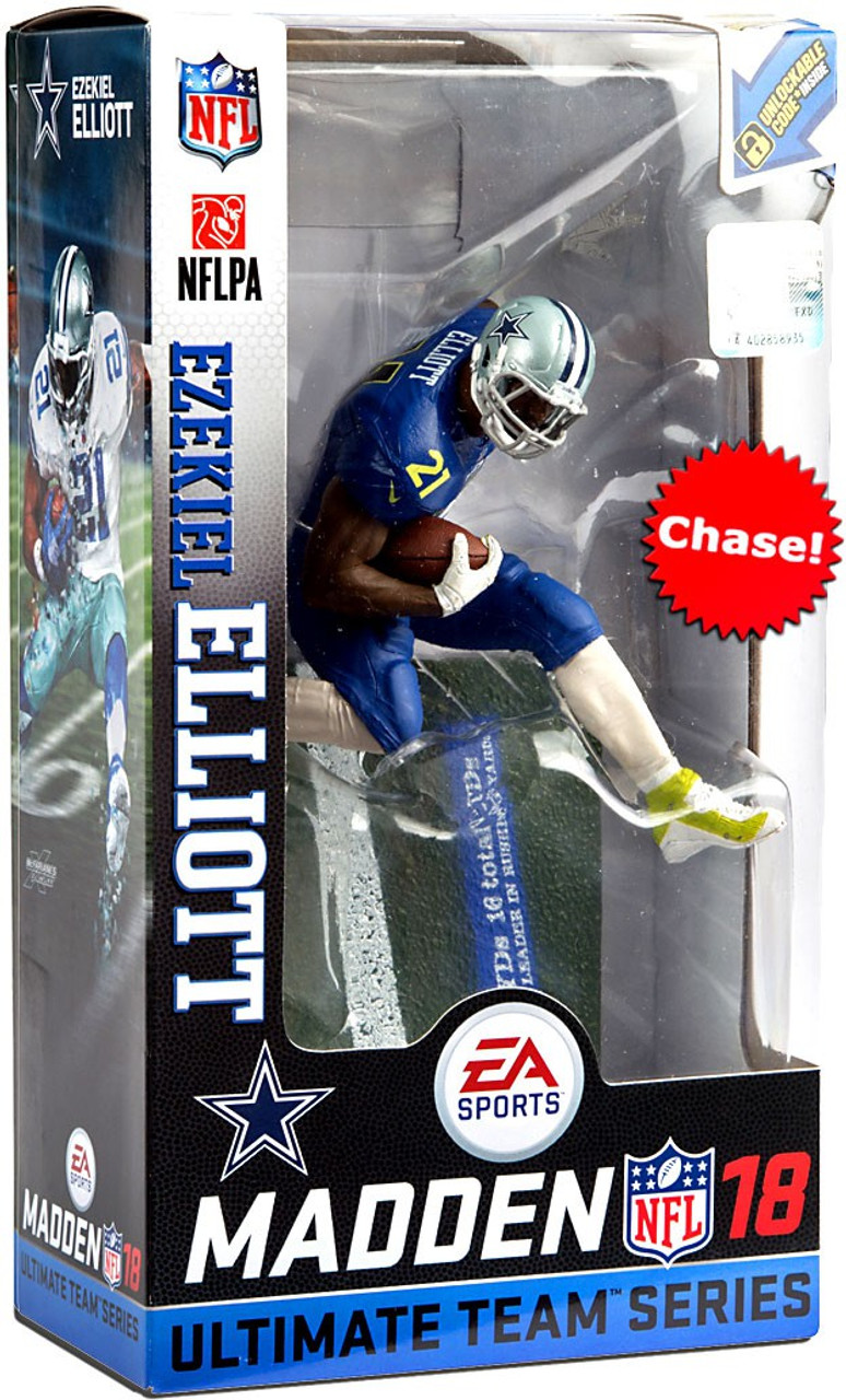quality design 9773b 5b4c7 McFarlane Toys NFL Dallas Cowboys EA Sports Madden 18 Ultimate Team Series  2 Ezekiel Elliott Action Figure [Pro Bowl Jersey Chase Version]