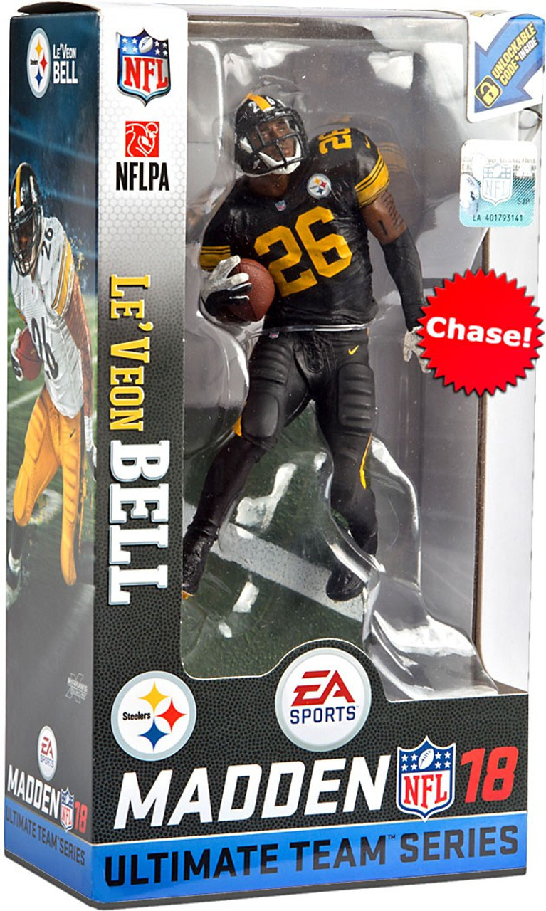 a268e41a3 McFarlane Toys NFL Pittsburgh Steelers EA Sports Madden 18 Ultimate Team  Series 2 LeVeon Bell 7 Action Figure Color Rush Chase Version - ToyWiz