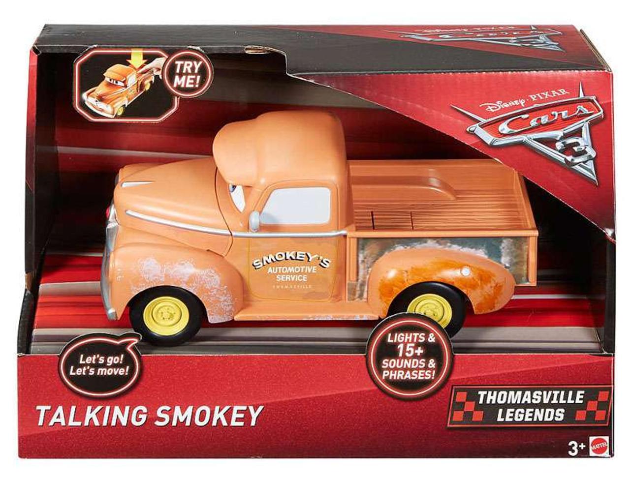 Disney Pixar Cars Cars 3 Racing Series Smokey 121 Talking Vehicle
