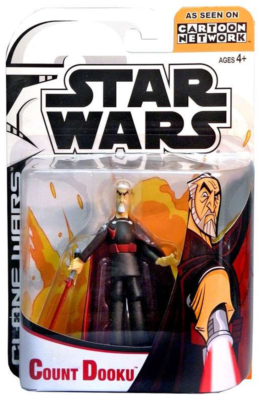 Star Wars The Clone Wars Cartoon Network Count Dooku 3 75 Action Figure Damaged Package Hasbro Toys Toywiz