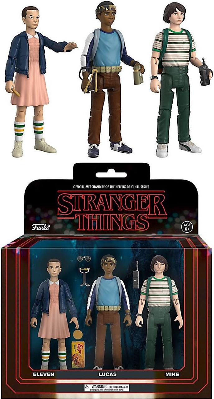 Eleven Lucas /& Mike Stranger Things ReAction 3er Actionfigurenset