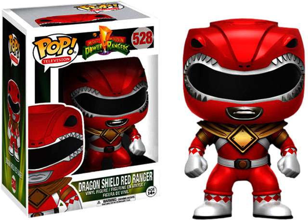 f3bcc46ec01 Power Rangers Funko POP! TV Dragon Shield Red Ranger Exclusive Vinyl Figure   528