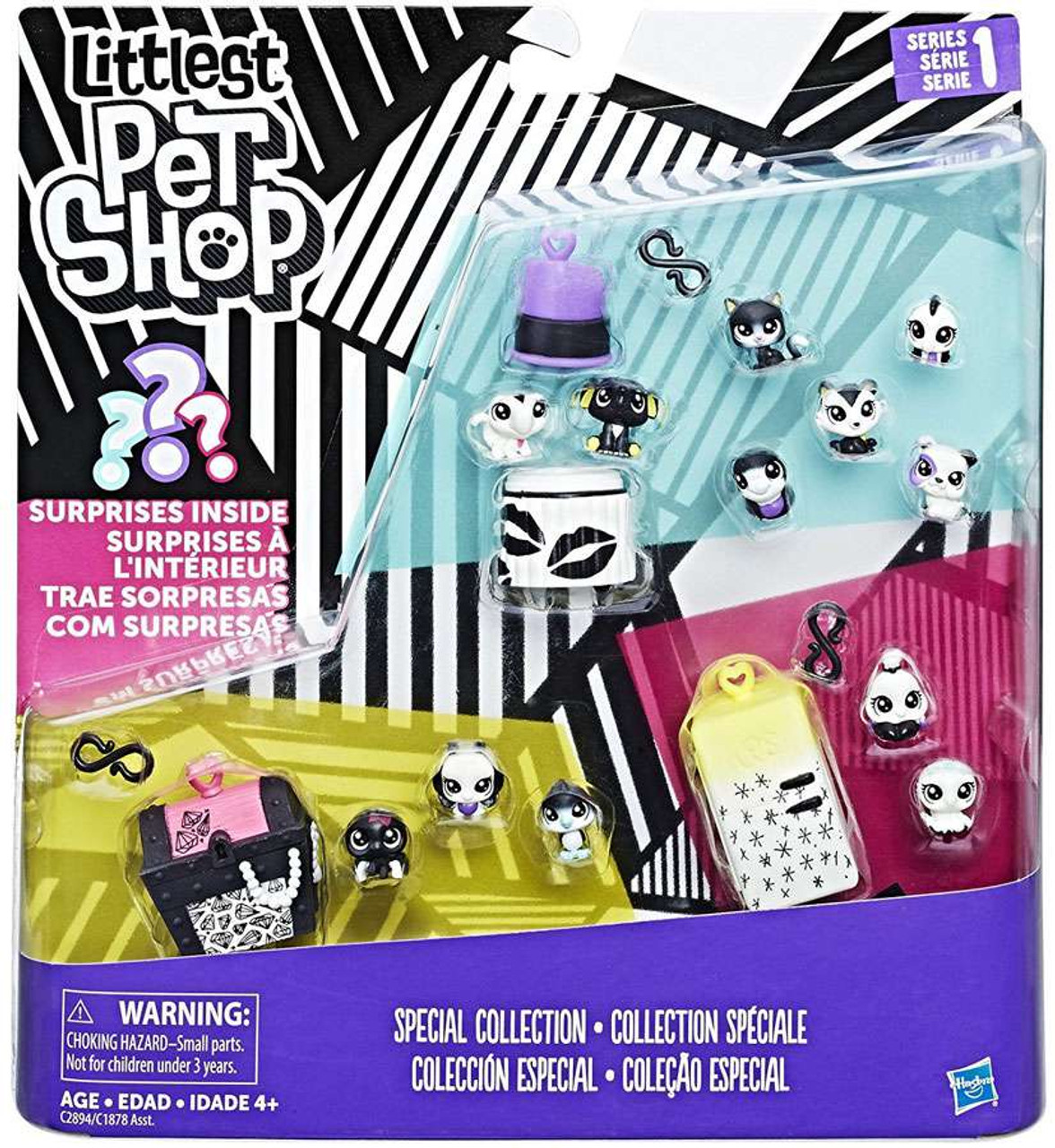 786438ebd3571 Littlest Pet Shop Black White Series 1 Special Collection 1 Figure Set  Hasbro Toys - ToyWiz