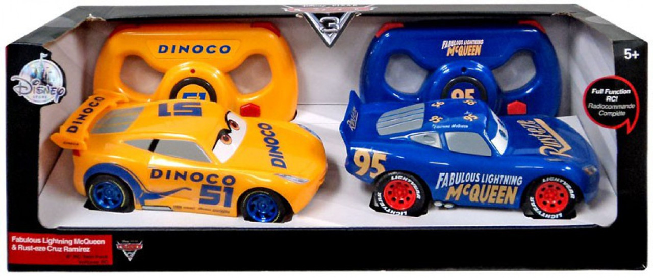 Disney Pixar Cars Cars 3 Fabulous Lightning Mcqueen Rust Eze Cruz Ramirez Exclusive R C Vehicle 2 Pack