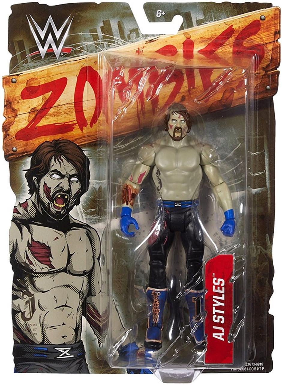 6c846e4b7e2 WWE Wrestling Zombies AJ Styles 6 Action Figure Mattel Toys - ToyWiz