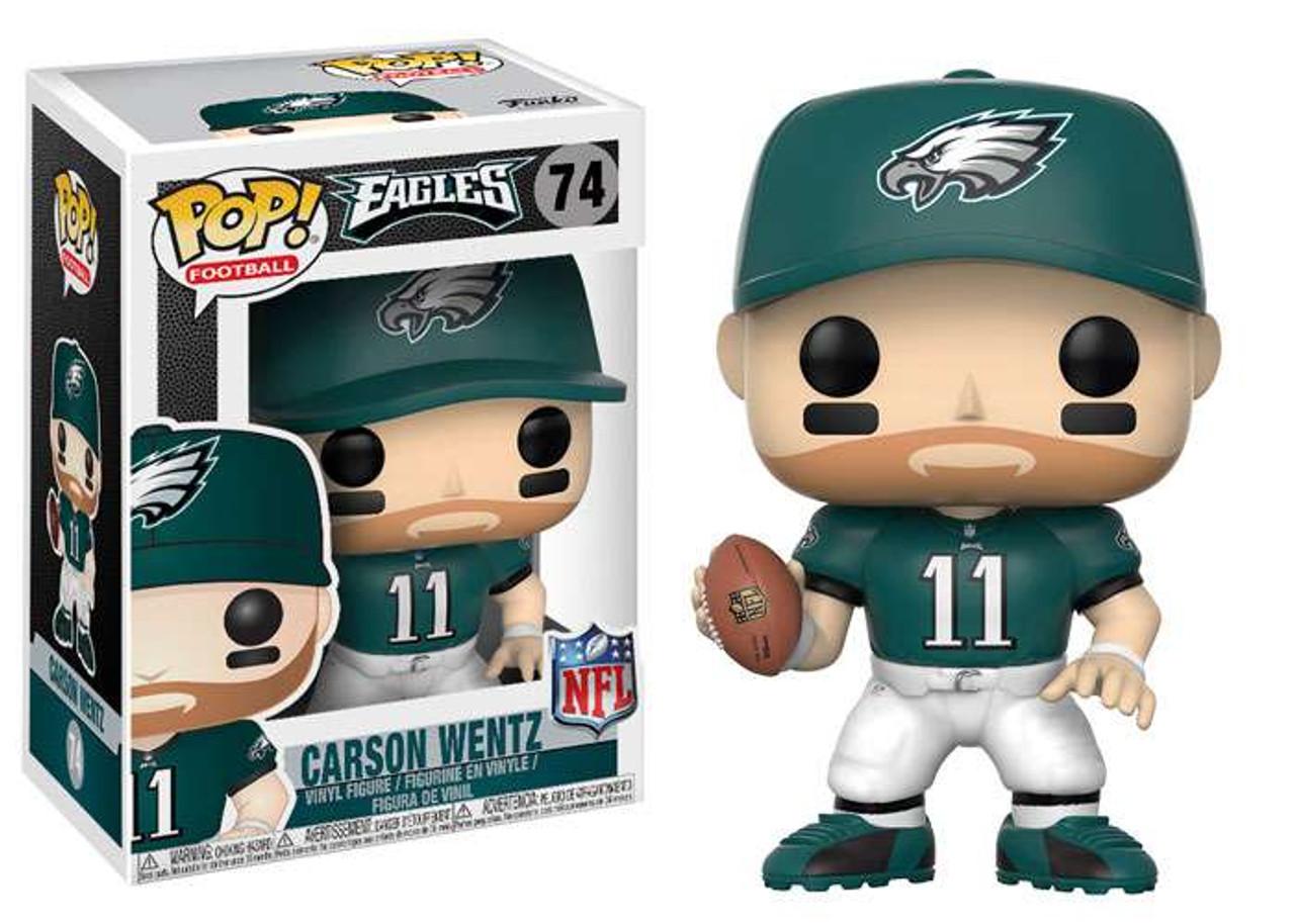 quality design 82a8b 8a897 NFL Philadelphia Eagles Funko POP! Sports Carson Wentz Vinyl Figure #74  [Green Jersey]