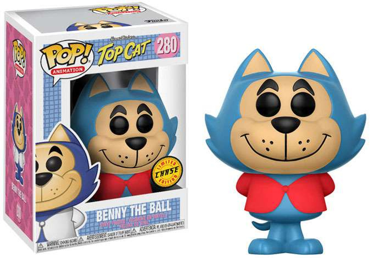 NEW OFFICIAL FUNKO POP TOP CAT BENNY THE BALL #280 VINYL FIGURE