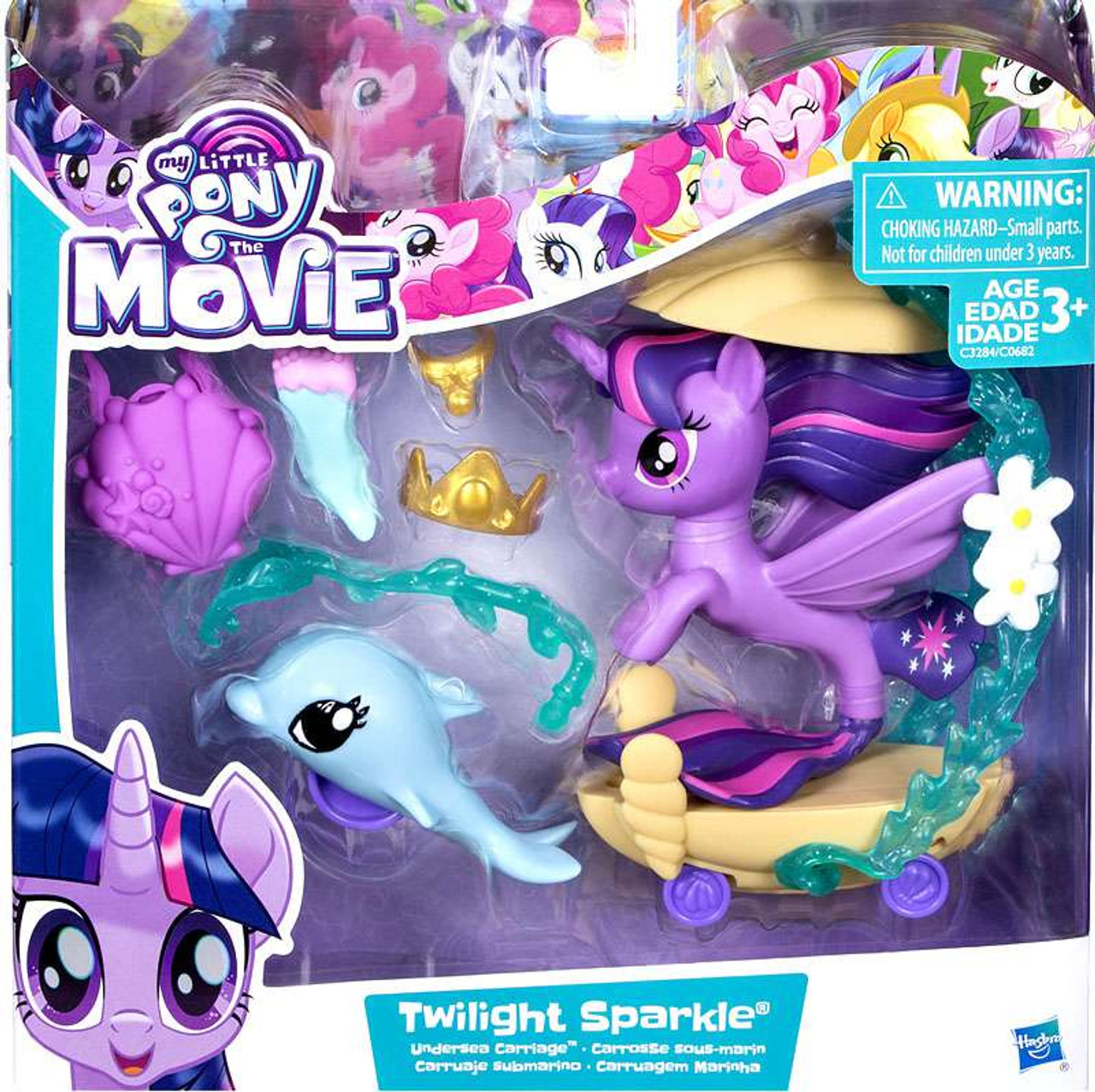 be526a535 My Little Pony The Movie Twilight Sparkle Undersea Carriage Playset Hasbro  Toys - ToyWiz