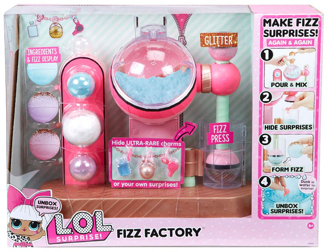 Lol Surprise Fizz Factory Playset Works With Charm Fizz Balls Mga