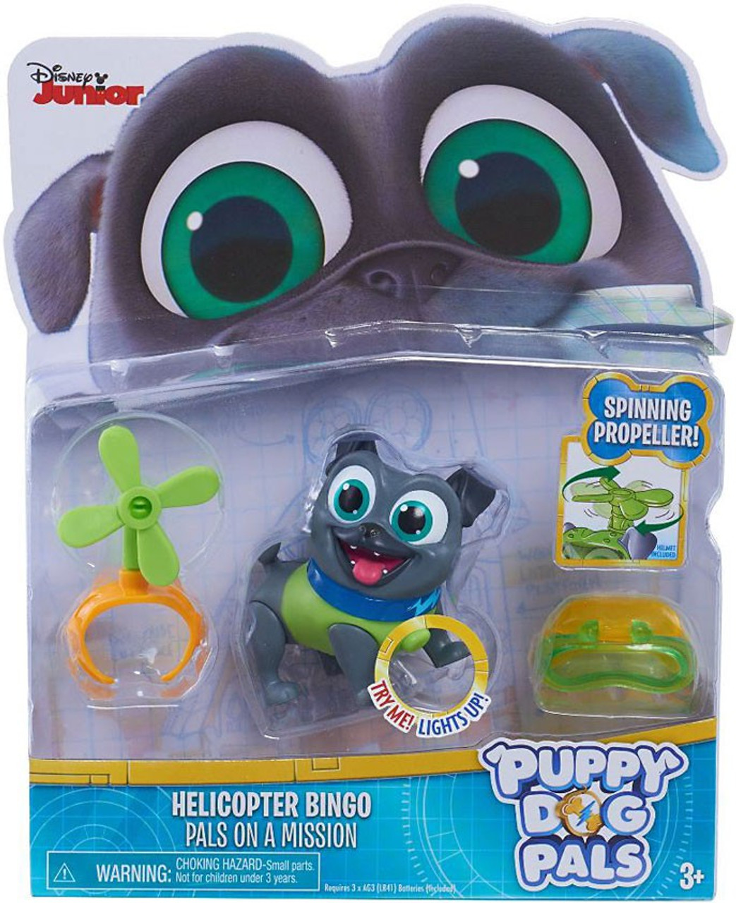 8e0440dde91 Disney Junior Puppy Dog Pals Light Up Pals On A Mission Helicopter Bingo  Action Figure Spinning Propeller Just Play - ToyWiz