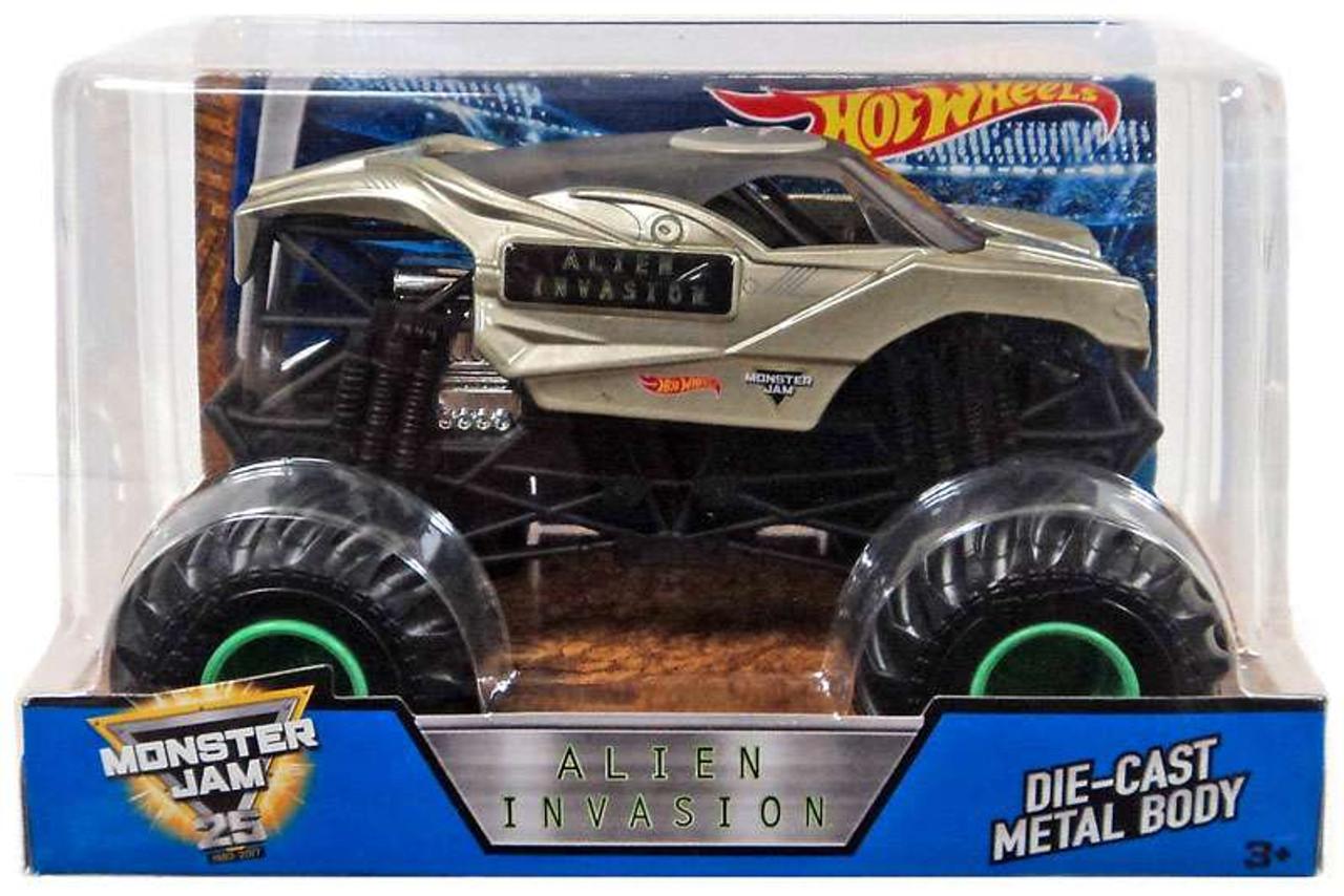 Hot Wheels Monster Jam 25 Alien Invasion 124 Die Cast Car Mattel Toys Toywiz