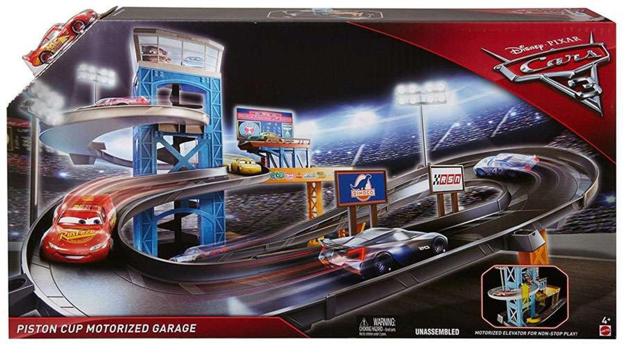 Disney Pixar Cars Cars 3 Piston Cup Motorized Garage