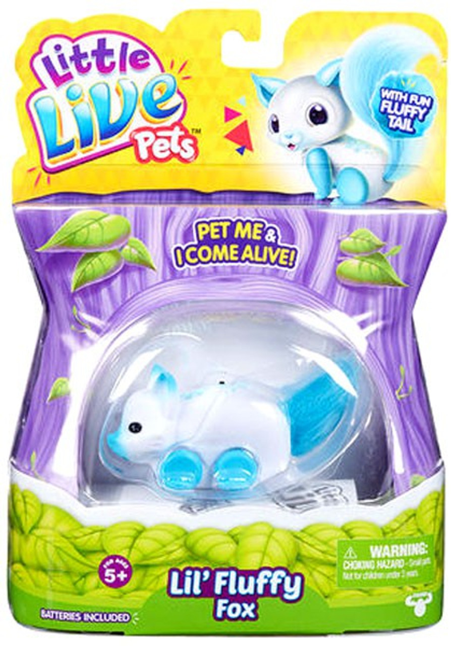 Little Live Pets Lil Fluffy Fox Figure Frosty Fox Moose Toys