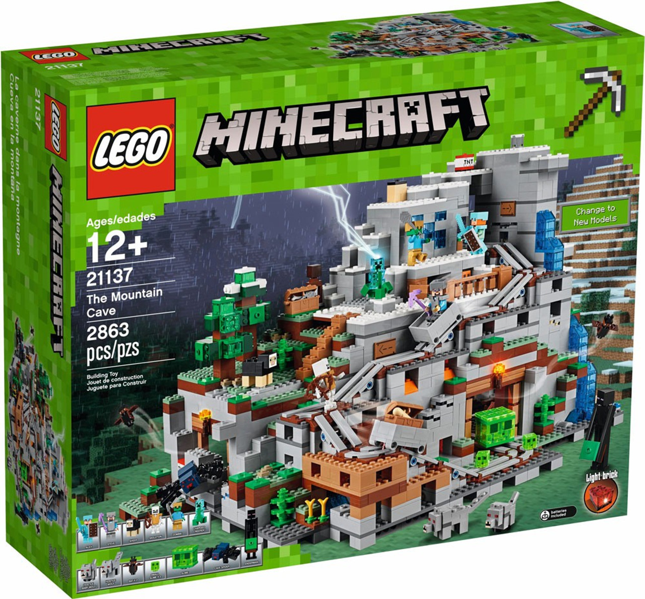 Lego Minecraft The Mountain Cave Set 21137 Toywiz