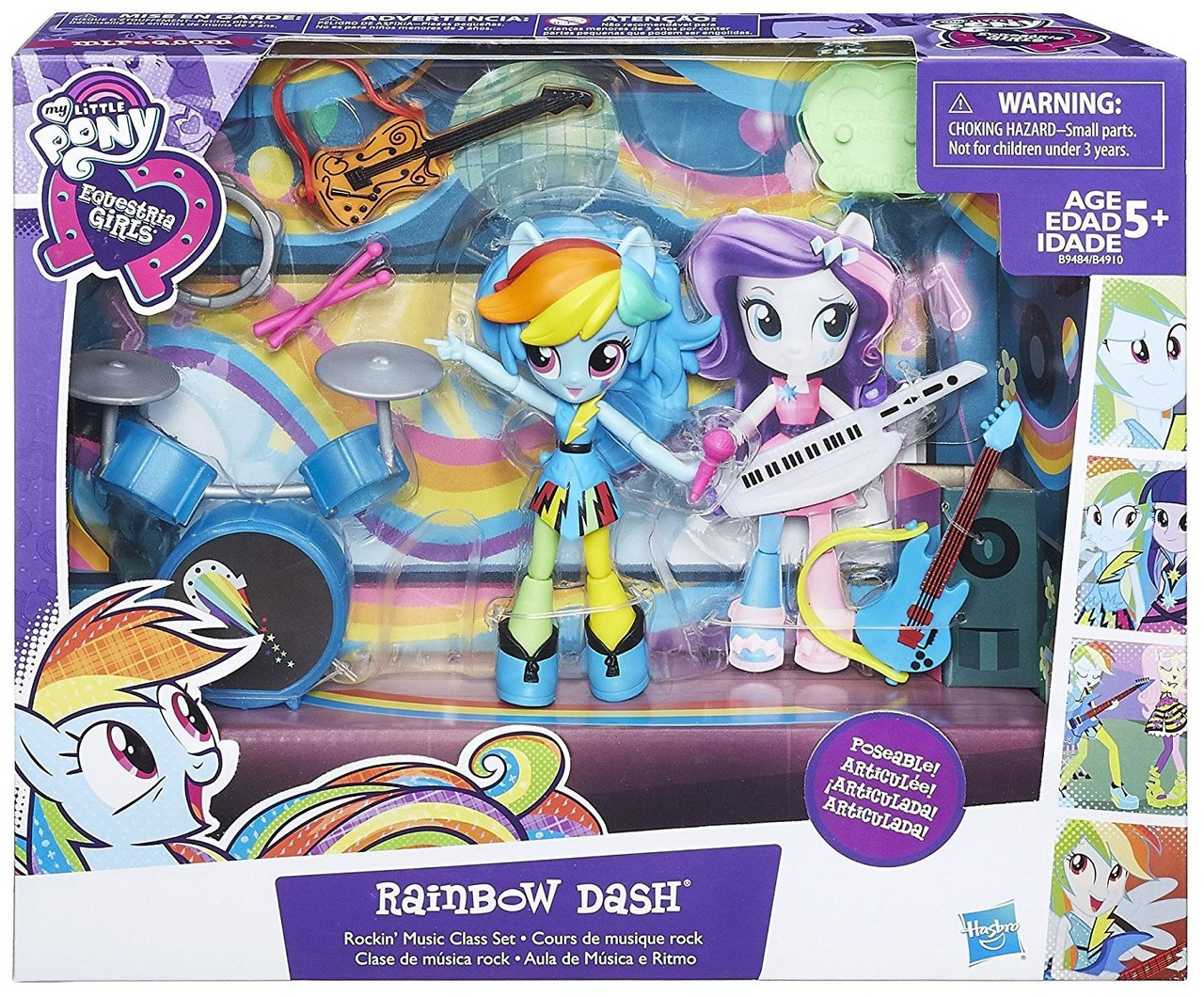 ad3be180791 My Little Pony Equestria Girls Minis Rainbow Dash Music Class Figure Set  Hasbro Toys - ToyWiz