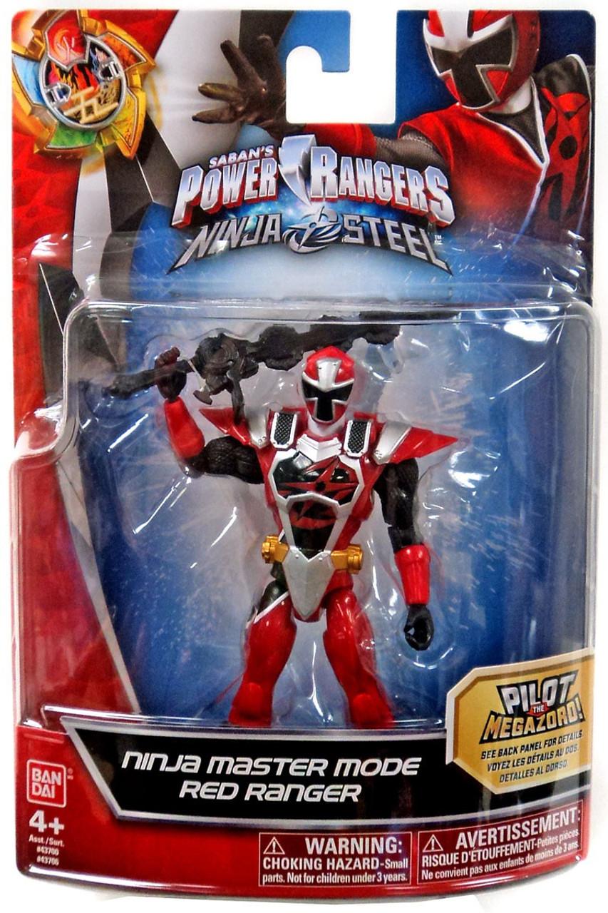 Power Rangers Ninja Steel Action Heroes Red Ranger Action Figure [Ninja  Master Mode]