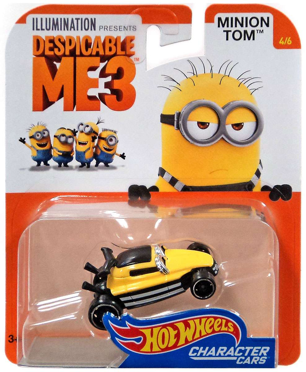 Hot Wheels Despicable Me 3 Minion Tom 164 Diecast Character Car 46 Mattel Toys Toywiz