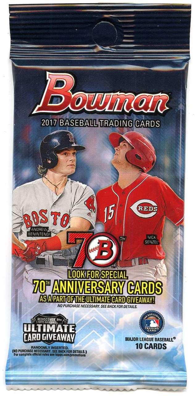Mlb 2017 Bowman Baseball Cards Trading Card Retail Pack 10 Cards