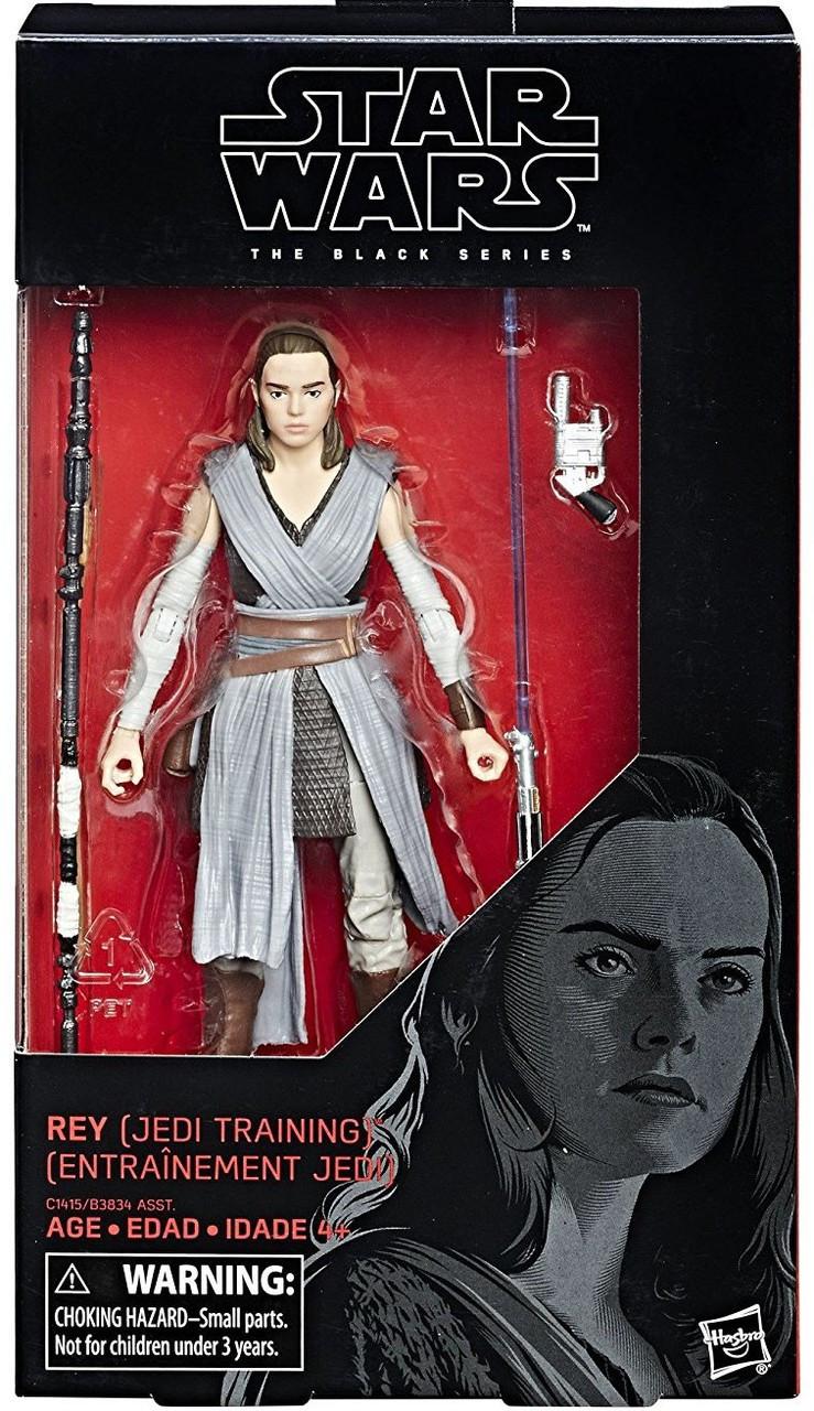 "Star Wars Black Series Wave 12 LAST JEDI TRAINING REY Loose 6/"" Figure Hasbro"