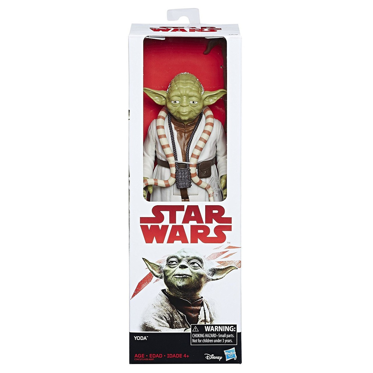 """STAR WARS 12/"""" YODA ACTION FIGURE.NEW /& SEALED."""