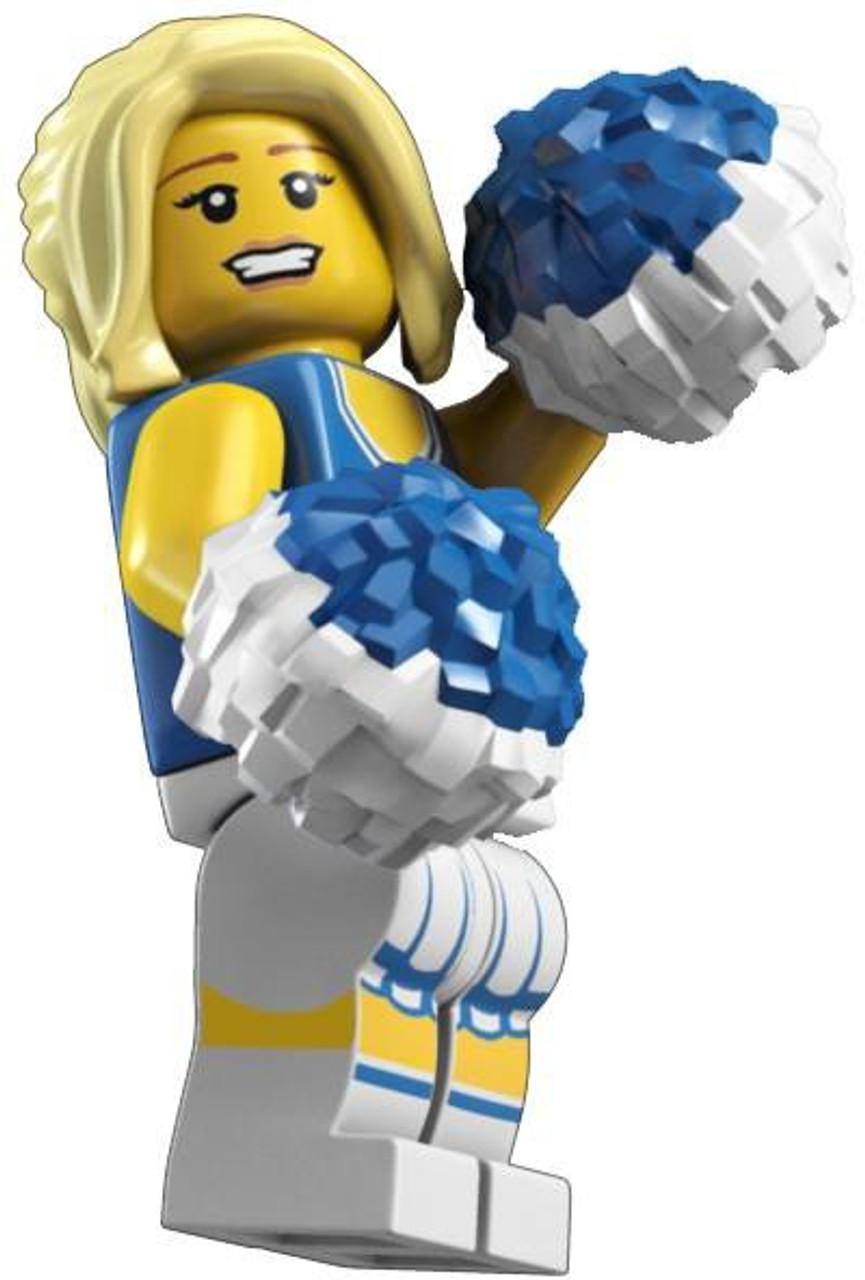 genuine lego minifigure the cheerleader from series 1 rare