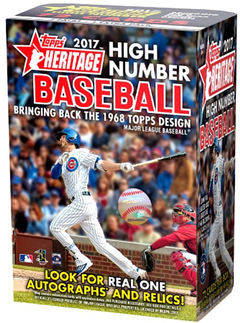 Mlb 2017 Topps Heritage Baseball Trading Card Blaster Box High Number
