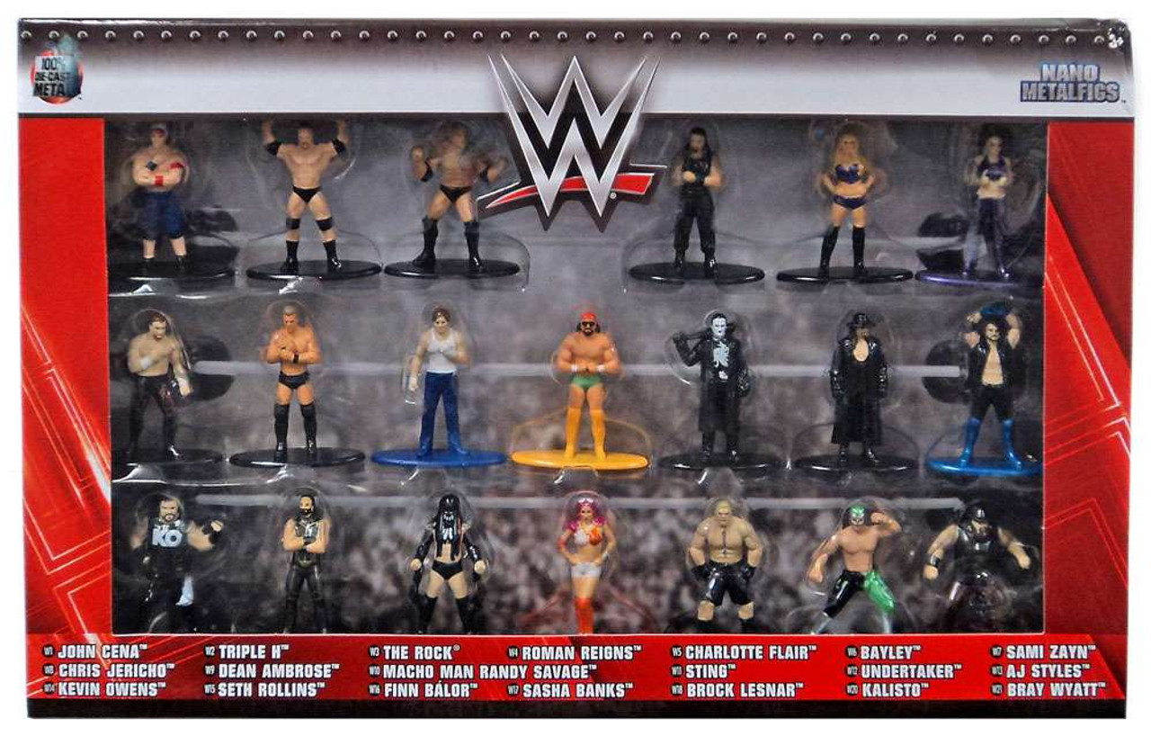 NEW Mattel WWE Plush Wrestling Figures Set of 4  Styles Balor Cena /& Rollins