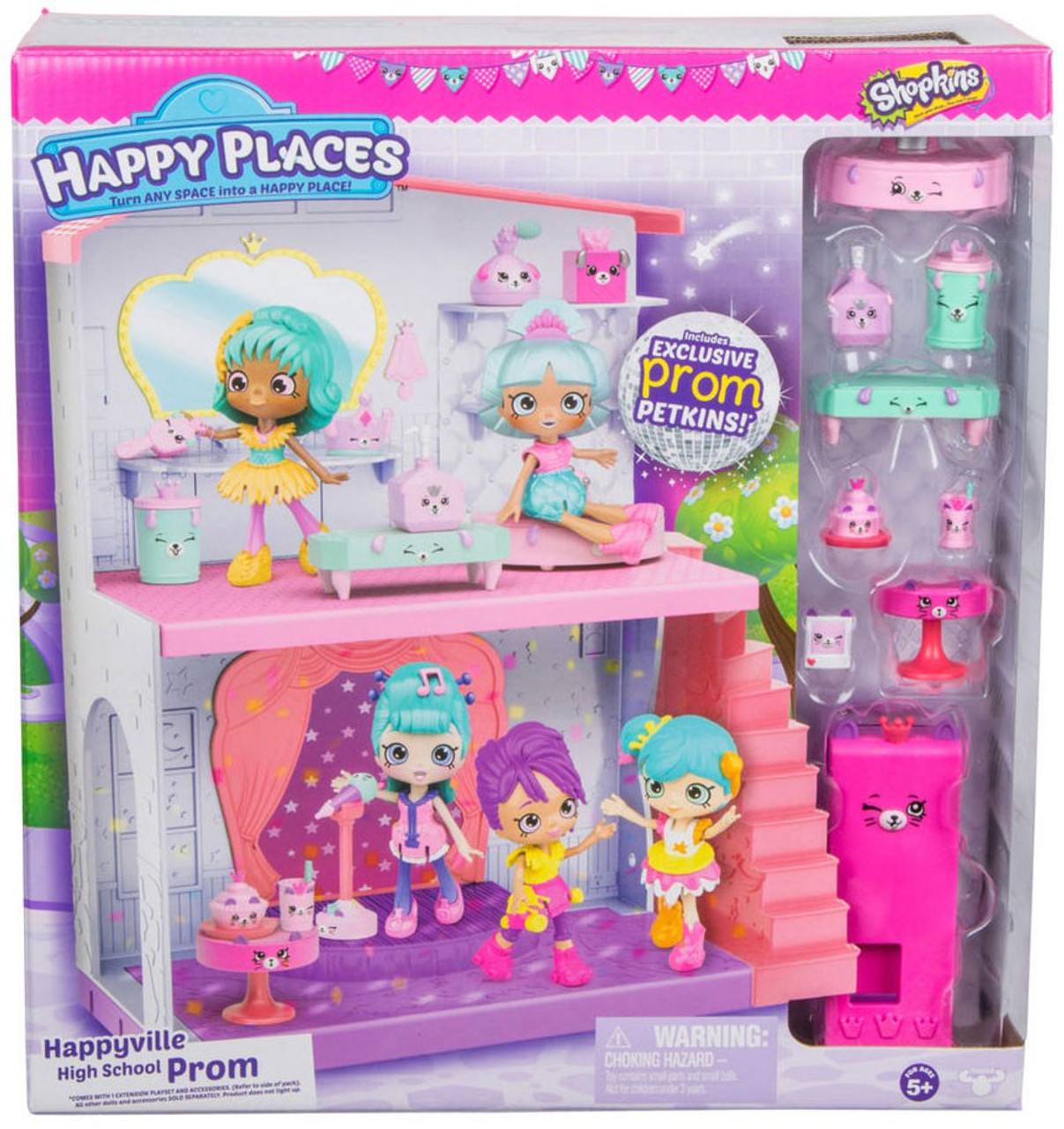 Shopkins Happy Places Happyville High School Prom Playset Moose Toys Toywiz