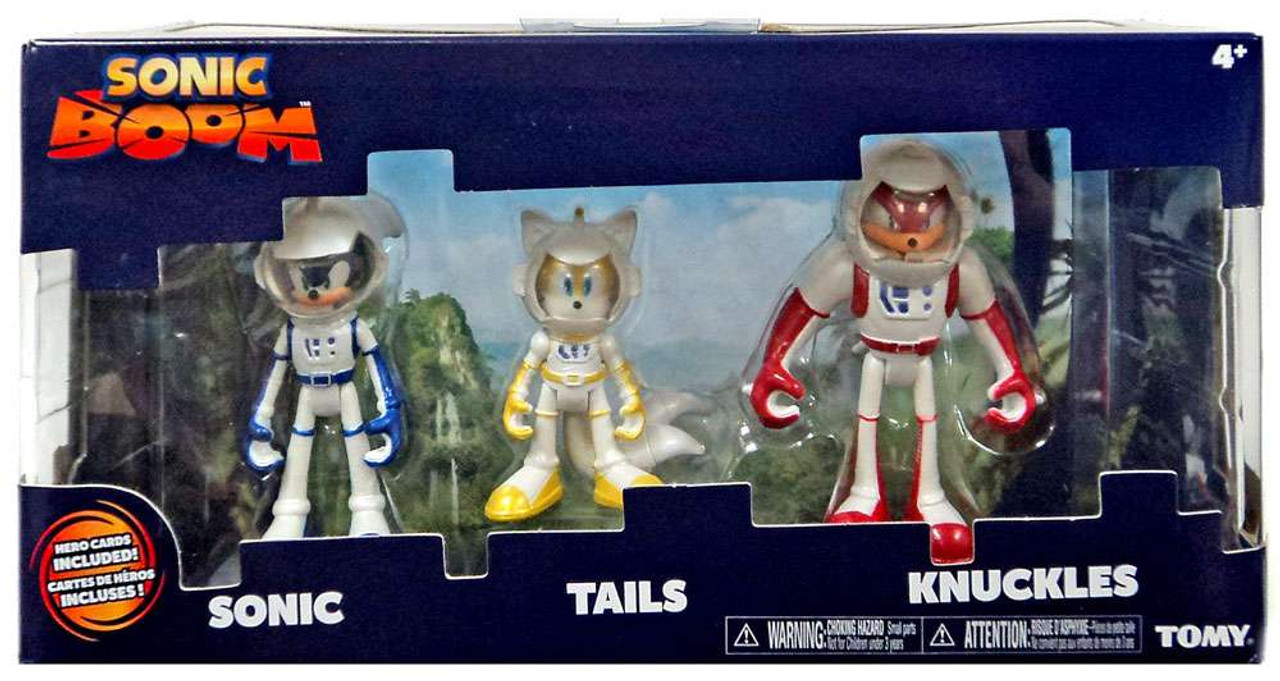 Sonic The Hedgehog Sonic Boom Sonic Tails Knuckles 3 Action Figure 3 Pack Spacesuits Tomy Inc Toywiz