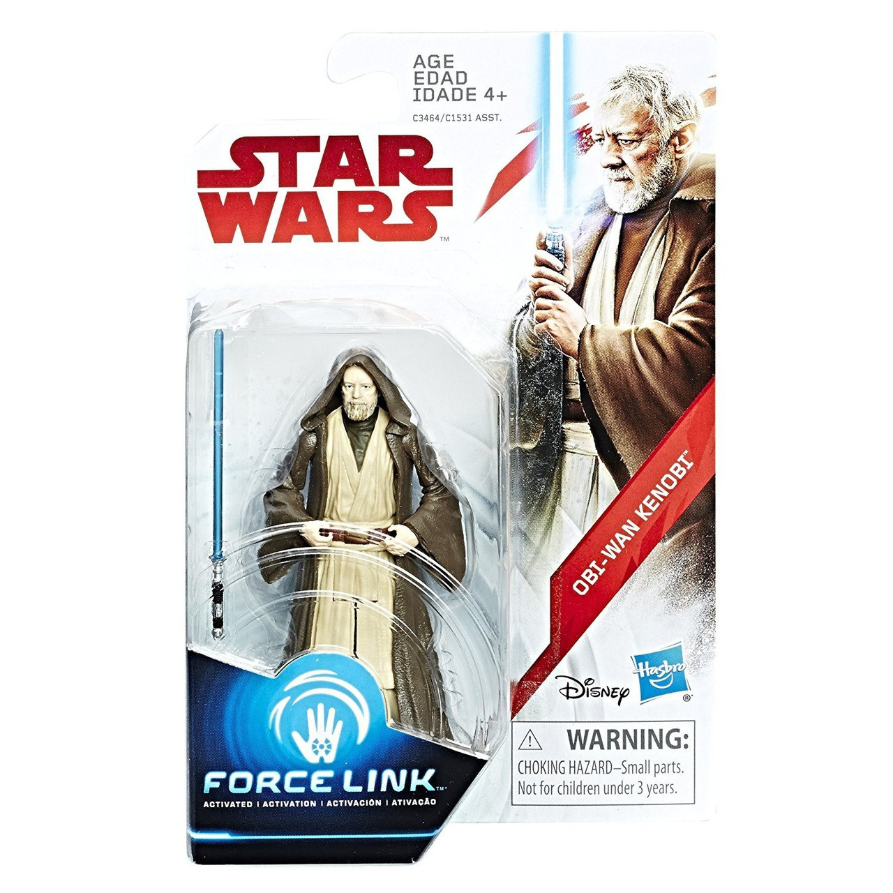 Star Wars A New Hope Force Link Teal Series Wave 2 SWU Obi Wan Kenobi Action Figure Hasbro Toys