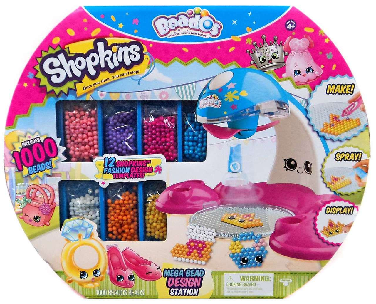 Shopkins Beados Mega Bead Design Station Playset Moose Toys Toywiz