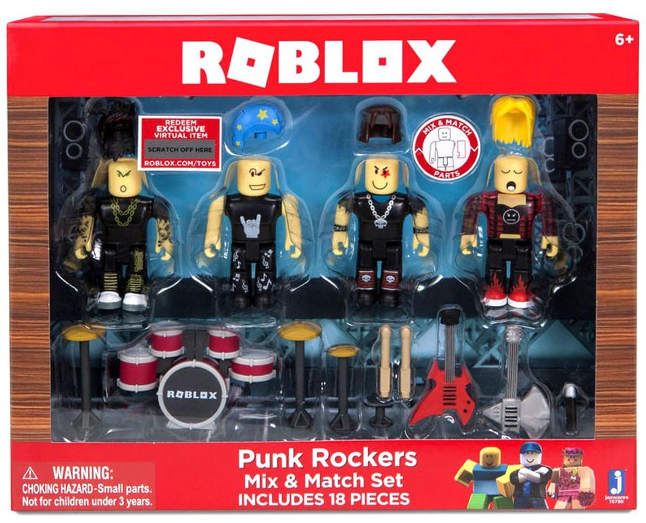Roblox Mix & Match Punk Rockers Figure 4-Pack Set