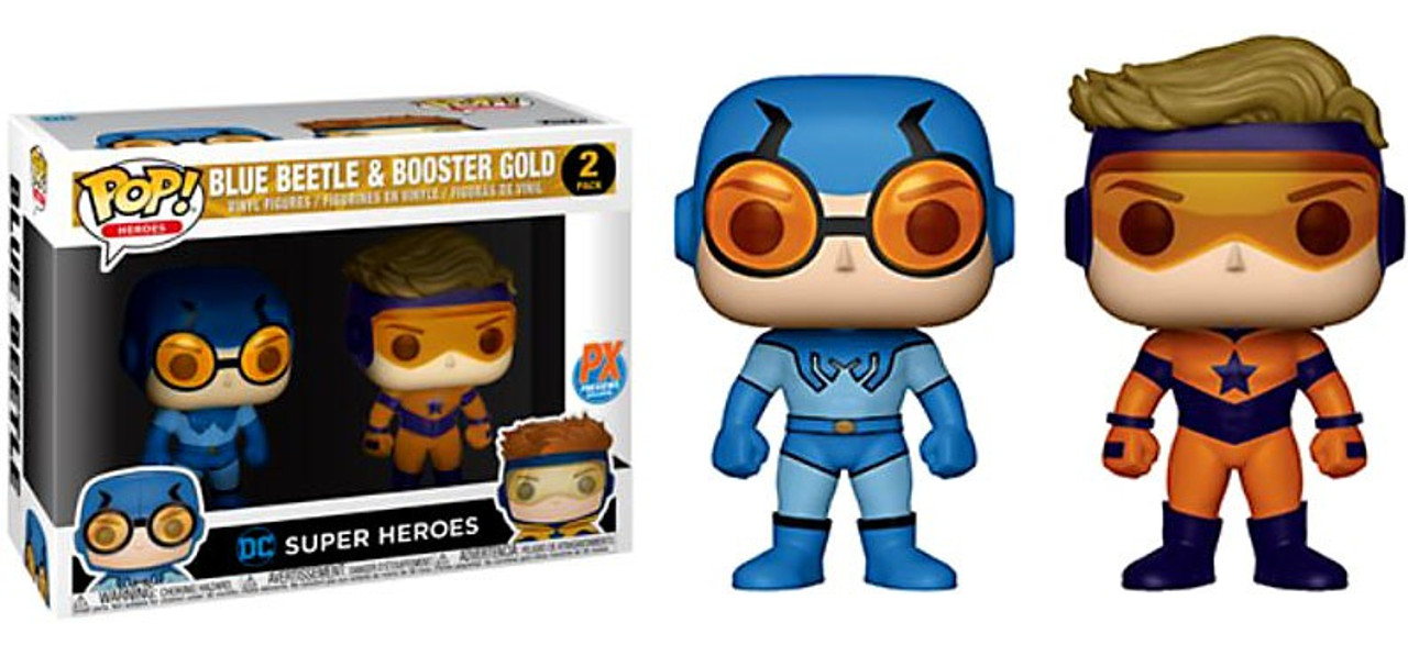 Blue Beetle /& Booster Gold 2 pack Funko Pop DC Comics Vinyl exclusive
