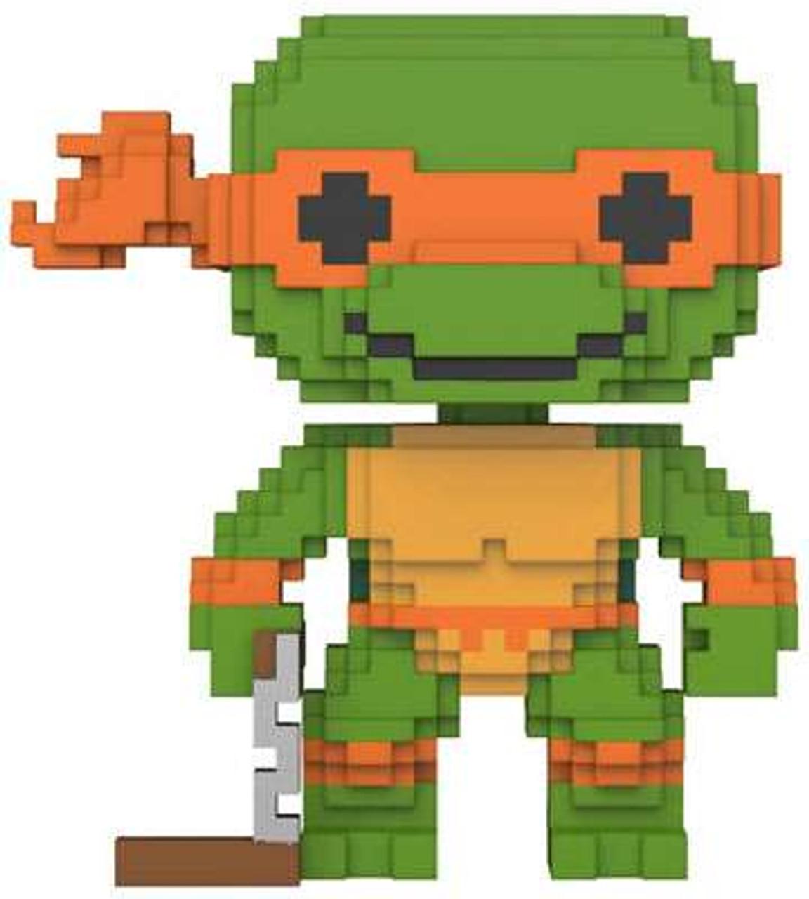 Funko 8-Bit Pop TMNT Teenage Mutant Ninja Turtles Michelangelo  Figure MIKEY #07